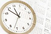 Clock and calendar — Stock Photo