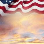 Flag and sky — Stock Photo #69148073