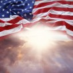 Flag and sky — Stock Photo #69358003