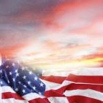 Flag and sky — Stock Photo #69568327