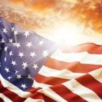 Flag and sky — Stock Photo #73626341