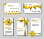 Set of colorful Business with ribbon bows. — Stockvector
