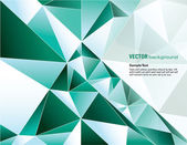Abstract turquoise polygonal background — Stock Vector
