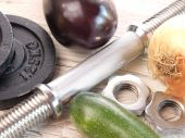 Healthy food and fitness — Стоковое фото