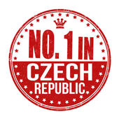 Number one in Czech Republic stamp — Stock Vector