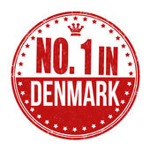 Number one in Denmark stamp — Stock Vector