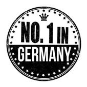 Number one in Germany stamp — Stock Vector