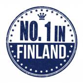 Number one in Finland stamp — Stock Vector