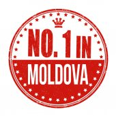 Number one in Moldova stamp — Stock Vector