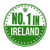 Number one in Ireland stamp — Stock Vector