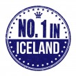 Number one in Iceland stamp — Stock Vector #51840185