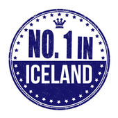 Number one in Iceland stamp — Stock Vector