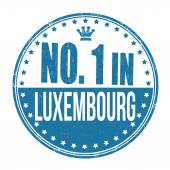 Number one in Luxembourg stamp — Stock Vector