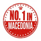 Number one in Macedonia stamp — Stock Vector