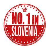 Number one in Slovenia stamp — Stock Vector