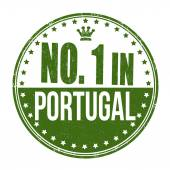 Number one in Portugal stamp — ストックベクタ