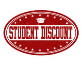 Student discount stamp — Stock Vector
