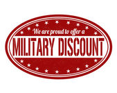 Military discount stamp — Stockvector