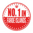 Number one in Faroe Islands stamp — Stock Vector
