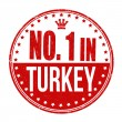 Number one in Turkey stamp — Stock Vector