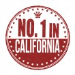 Number one in California stamp — Stock Vector