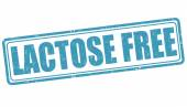 Lactose free stamp — Stock Vector