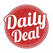 Daily deal stamp — Stok Vektör
