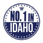 Number one in Idaho stamp — Stock Vector
