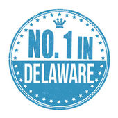 Number one in Delaware stamp — Stock Vector