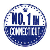 Number one in Connecticut stamp — Stock Vector