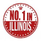 Number one in Illinois stamp — Stok Vektör