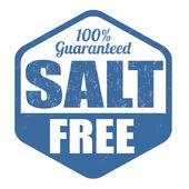 Salt free stamp — Stock Vector