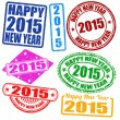 Set of 2015 new year stamps — Stock Vector #52537749