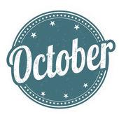 October stamp — Stock Vector