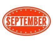 September stamp — Stock Vector