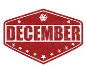 December stamp — Stock Vector