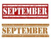 September stamps — Stock Vector
