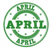 April stamp — Stok Vektör
