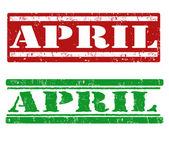 апрель марки — Cтоковый вектор