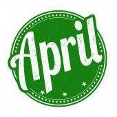 April stamp — Vector de stock