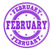 February stamp — Stock Vector