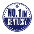 Number one in Kentucky stamp — Stock Vector #52559787