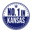 Number one in Kansas stamp — Stock Vector