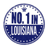 Number one in Louisiana stamp — Stock Vector