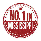 Number one in Mississippi stamp — Stock Vector