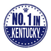 Number one in Kentucky stamp — ストックベクタ
