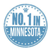 Number one in Minnesota stamp — Stock Vector
