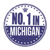 Number one in Michigan stamp — Stock Vector