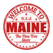 Welcome to Maine stamp — Vector de stock