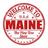 Welcome to Maine stamp — Stockvector